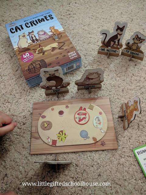 Cat Crimes Logic Board Game by Thinkfun
