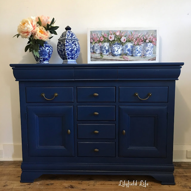ascp Napoleonic blue sideboard lilyfield life