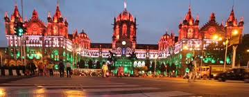 Mumbai CST Railway Terminus Illuminated on the Eve of Republic Day