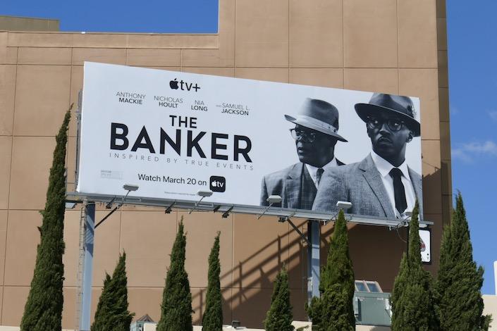 Banker AppleTV movie billboard