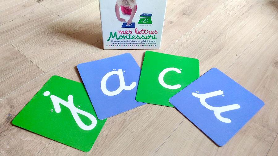Lettres rugueuses Montessori