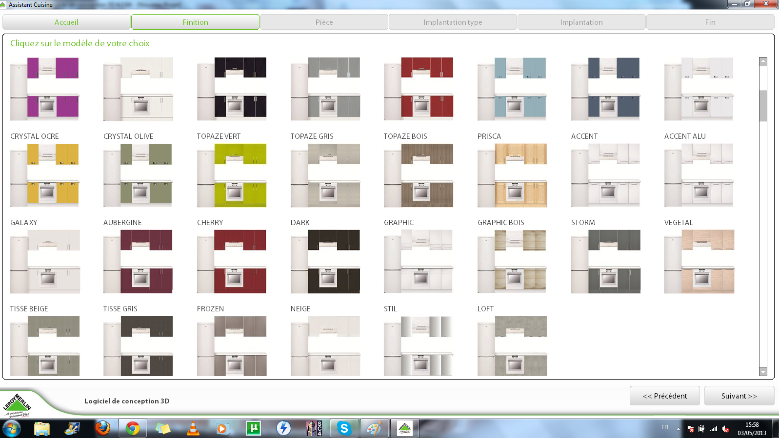 les 1001 vies de lily les outils de conception cuisine 3d. Black Bedroom Furniture Sets. Home Design Ideas
