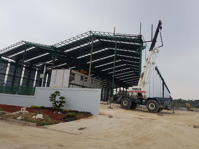 Baja WF , Jasa Baja Cikarang , Gudang Konstruksi baja