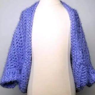 Chaqueta Cacoon a Crochet