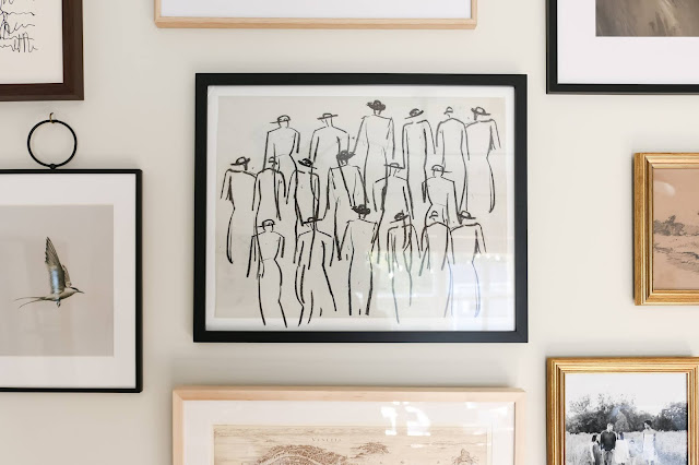 How To Create A Large Vintage Modern Gallery Wall