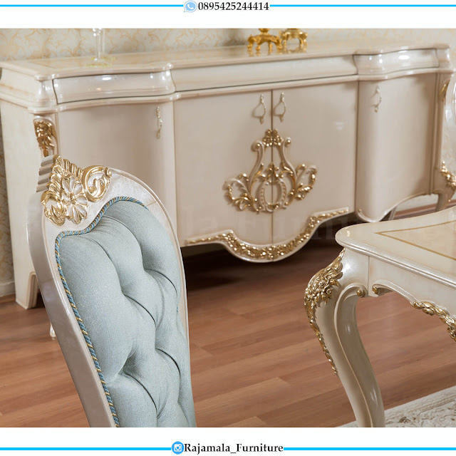 Desain Meja Makan Mewah Klasik Luxury Jepara Furniture Terbaru RM-0598
