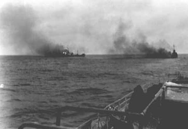 German destroyers sink a Soviet ship, 7 March 1942 worldwartwo.filminspector.com