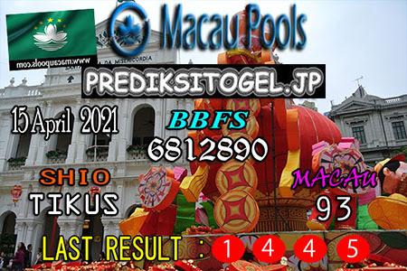Prediksi Wangsit Togel Macau Kamis 15 April 2021