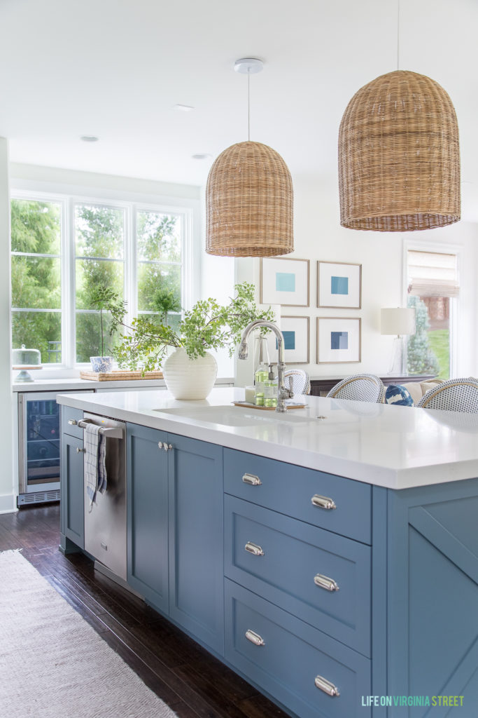 Blue Cabinet Paint Colors Our Kitchen Makeover Delightfully Noted