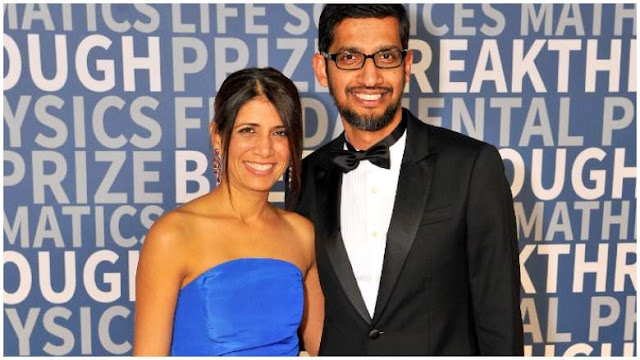 Google CEO Sundar pichai Wife