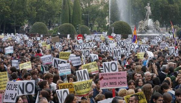 Españoles se manifestarán en contra de la investidura de Rajoy