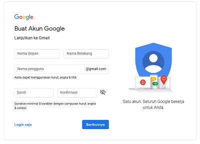 cara buat akum gmail Baru