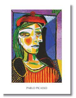 Femme au beret rouge - (PP-778) - Pablo Picasso