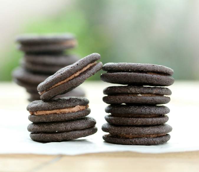Mini Chocolate Filled Sandwich Cookies