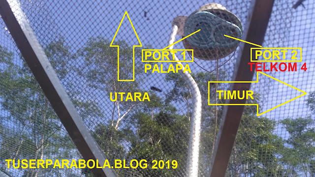 cara mencari satelit palapa dan telkom 4