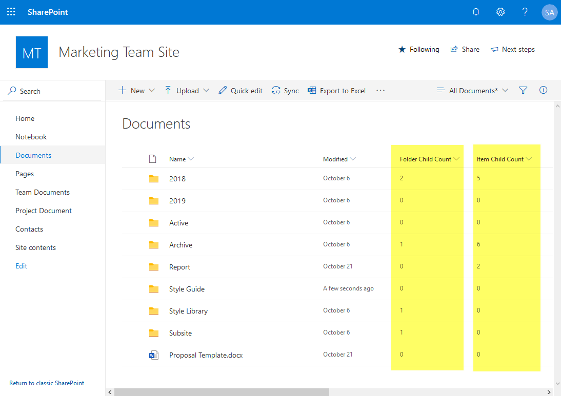 find empty folders in sharepoint online