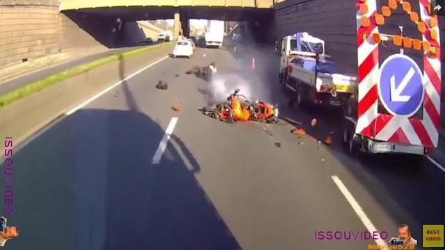 accident de moto issouvideo bike crash
