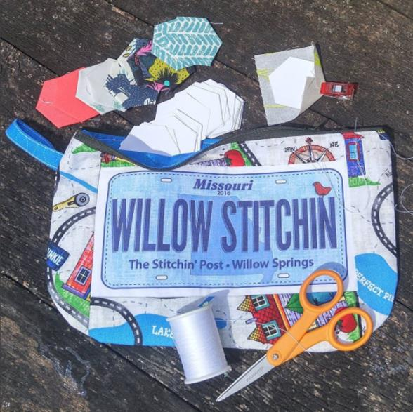 Zipper pouch for fabric license plates