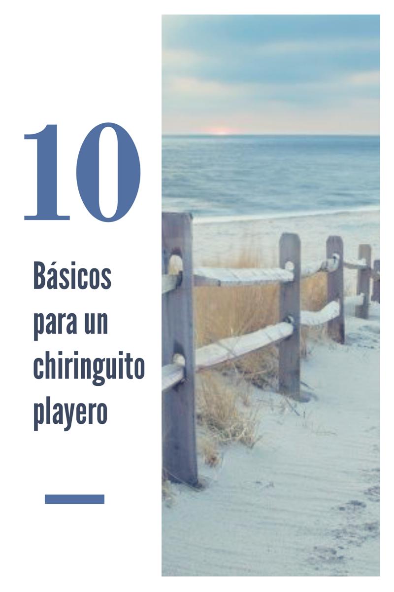 Los 10 básicos de un chiringuito playero