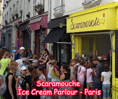 Scaramouche Ice Cream Parlor in Paris