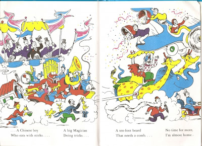 Pages from Dr. Seuss's And To Think That I Saw It On Mulberry Street