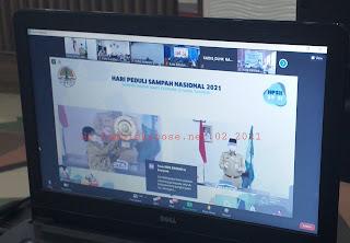 Walikota Jambi Menyaksikan Secara Virtual Dan Menerima Penghargaan Kinerja Pengurangan Sampah Dan Dana Insentif Daerah Dari Kementerian KLHK