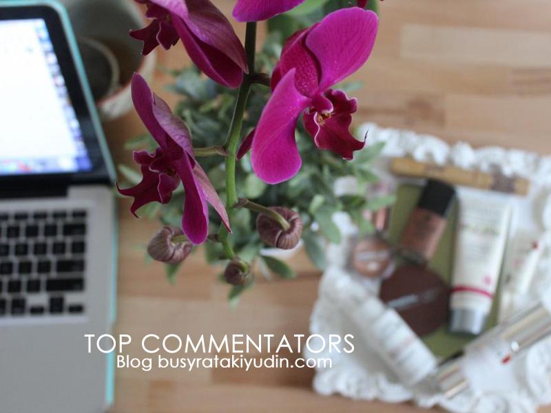 HADIAH UNTUK TOP KOMENTATORS DI BLOG BUSYRA TAKIYUDIN