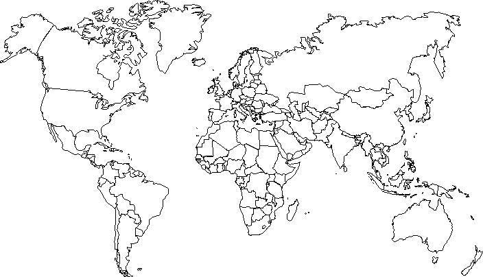 mapa mundi mudo MAPAS: mapa mundi mudo político para trabalhos mapa mundi mudo