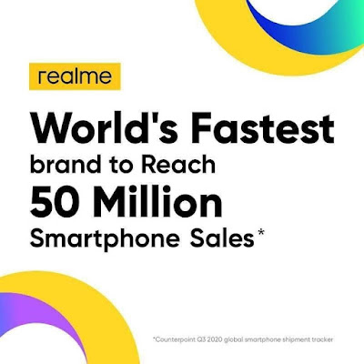 realme makes a remarkable history as they ranked 2nd in Malaysia and achieved 50 million sales