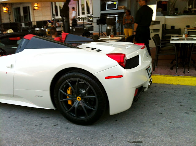 White Ferrari 458 Italia Spider on South Beach   Exotic ...