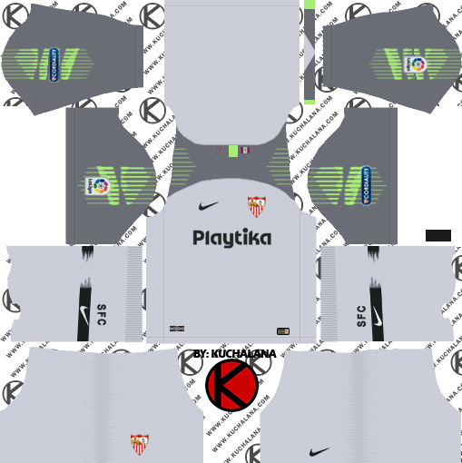 Sevilla FC 2018/19 Kit - Dream League Soccer Kits - Kuchalana