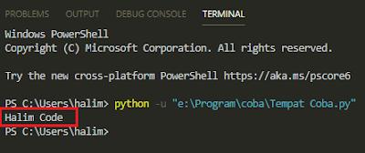 Hasil Print Pada Python