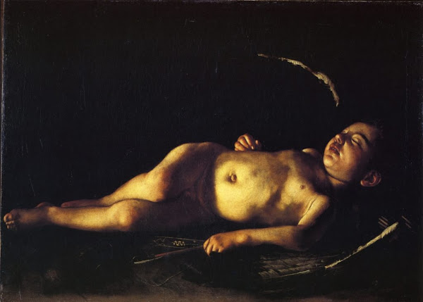 Sleeping Cupid by Michelangelo Merisi da Caravaggio, Macabre Paintings, Horror Paintings, Freak Art, Freak Paintings, Horror Picture, Terror Pictures