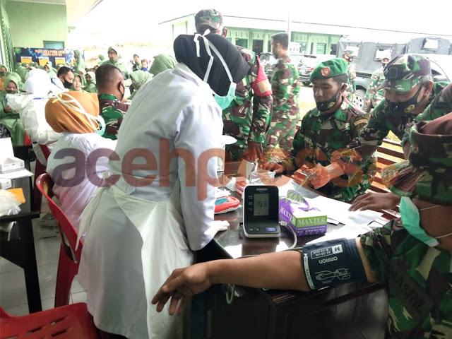 Kodim 0119/BM Berhasil Kumpulkan Kantong Darah Bantu UTD RS Munyang Kute Redelong