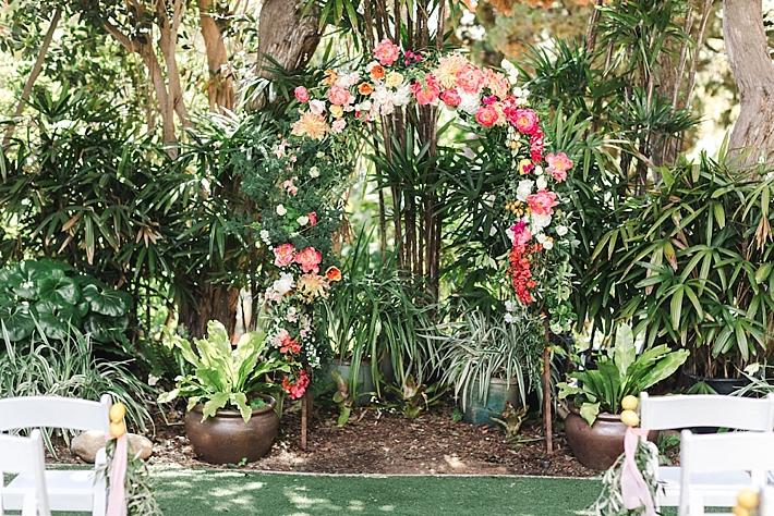 Colorful Summer San Diego Botanic Garden Wedding Southern California Wedding Ideas And Inspiration