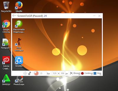 Merekam Desktop Jadi Animasi GIF Dengan LICEcap