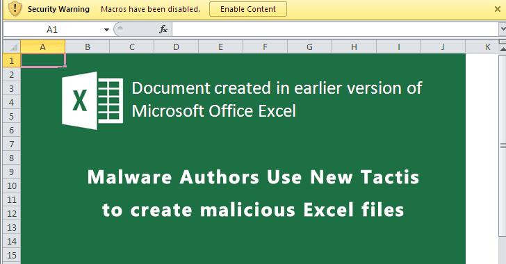 Malware Authors Create Malicious Excel Documents Using the .NET library to Bypass Security Checks
