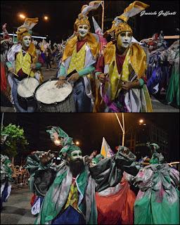 Desfile Inaugural del Carnaval. Uruguay. 2017 Murga Curtidores de Hongos