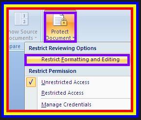 Gambar Cara Memberi Proteksi Atau Password Ms. Word 2007