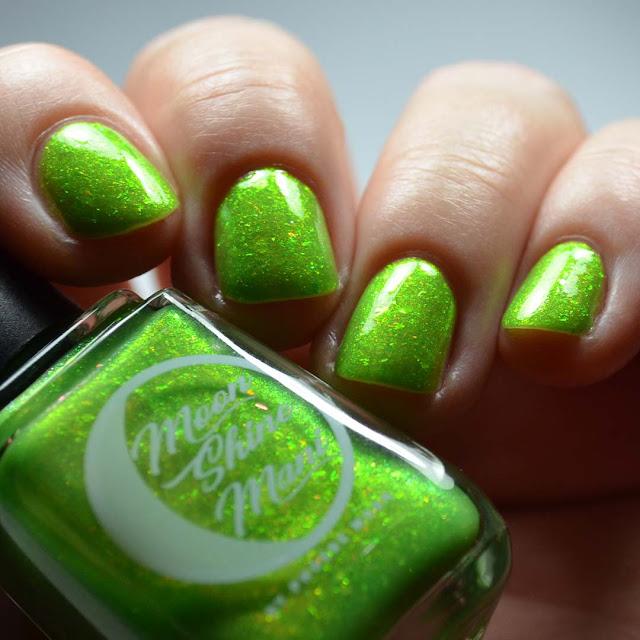 green nail polish with shimmer