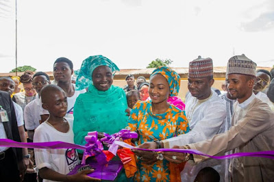 Zahra Buhari Commissions New Library And New Home For Orphans In Kaduna.PICS