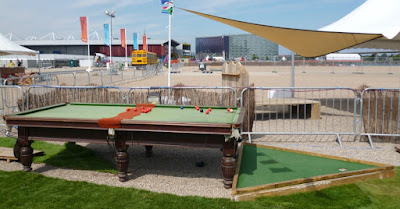Snooker hole at the Golf Apocalypse crazy golf course in London