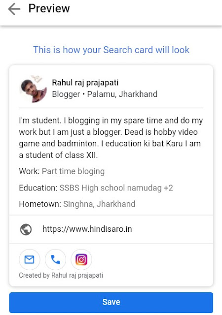 Google people card kaise Kam krta khai