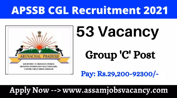 APSSB CGL Recruitment 2021:  53 Group C Vacancy Vailable | Online Apply