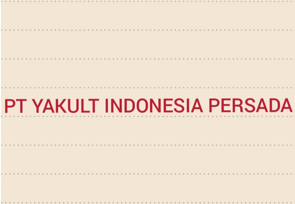 Lowongan Kerja Pt Yakult Indonesia Persada