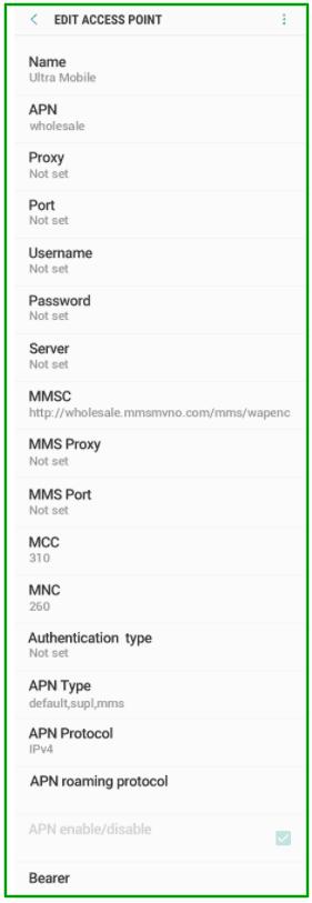 APN Settings for Ultra Mobile