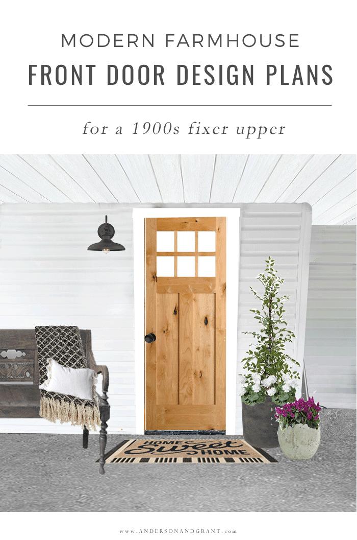 Modern Farmhouse Front Door Design Plans