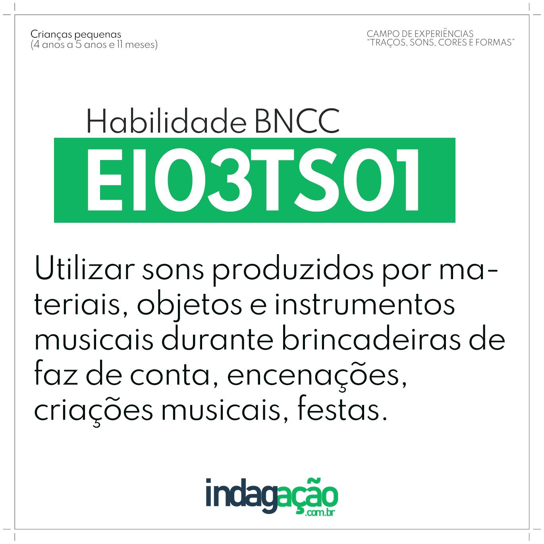 Habilidade EI03TS01 BNCC
