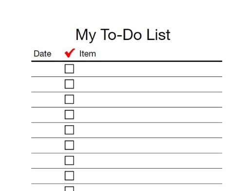 todo list for measure your day