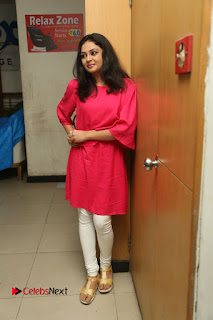 Actress Arundathi Nair Stills in Red Chididar at Bethaludu Success Meet  0127.JPG